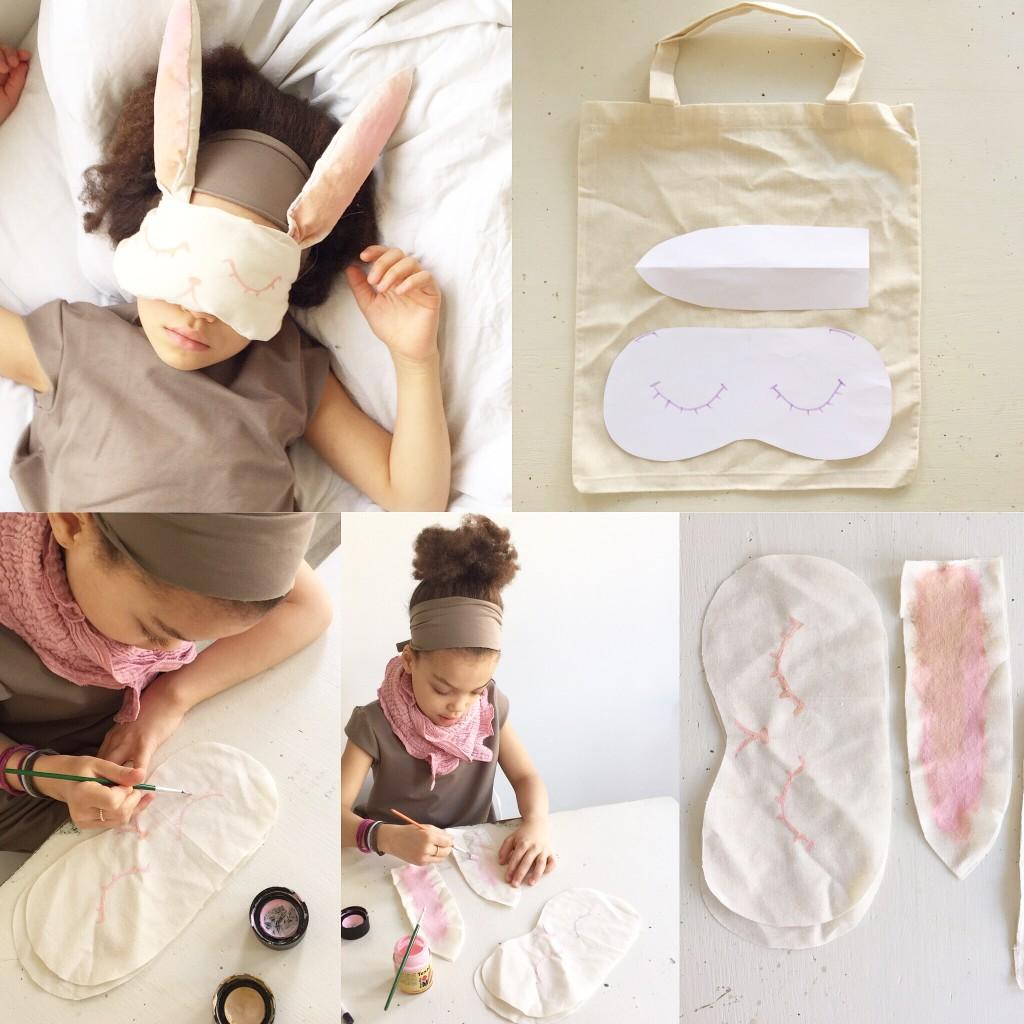 Hasenmaske step by step