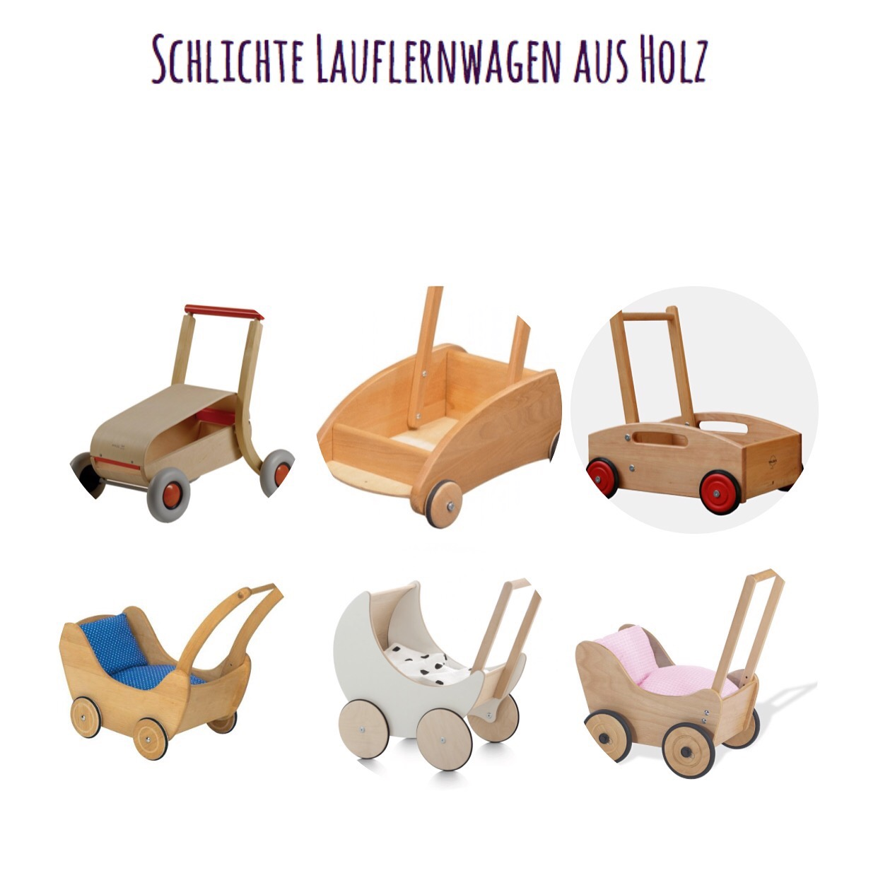 schlichte lauflernwagen aus holz mamablog shop by. Black Bedroom Furniture Sets. Home Design Ideas