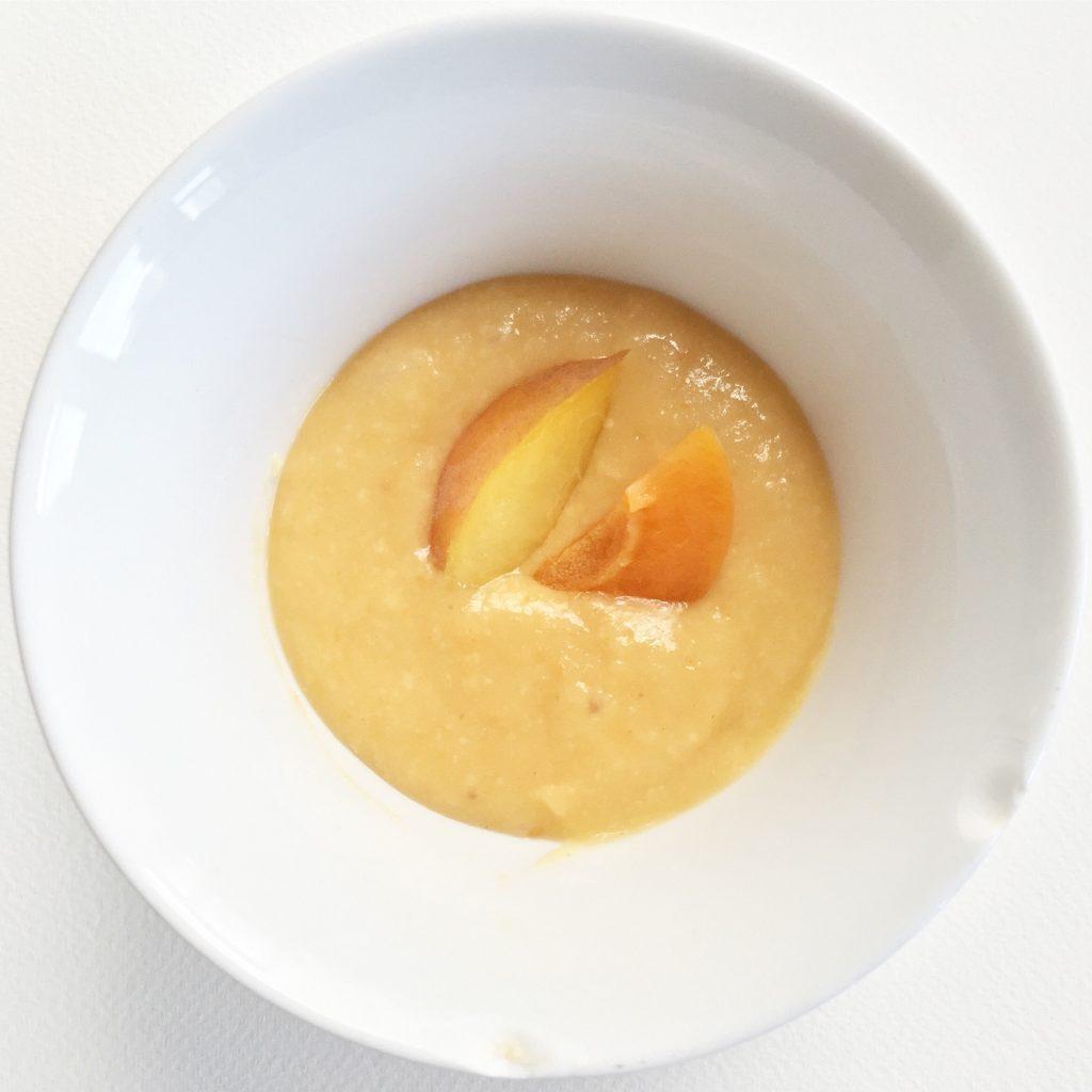 Obst Getreide Brei Rezept mit Pfirsich