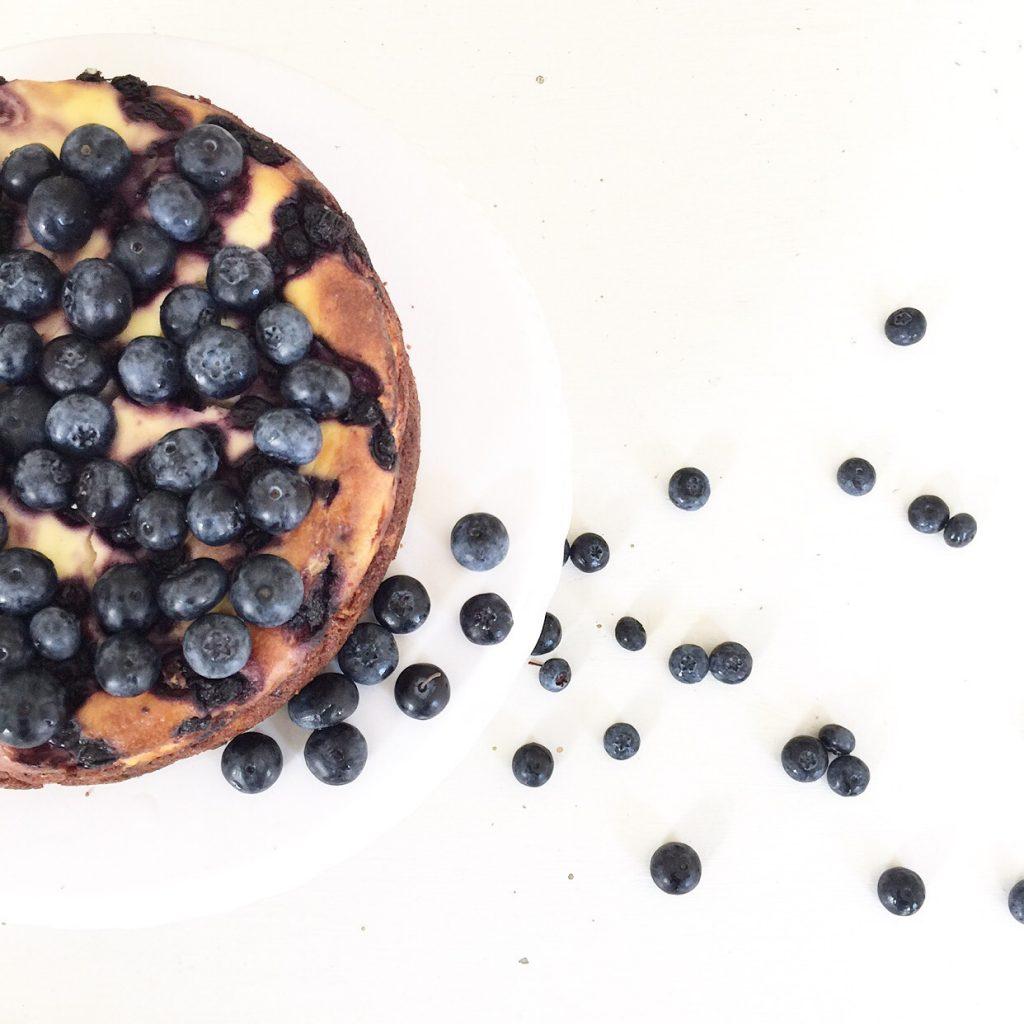 käsekuchen Rezept mit Blaubeere
