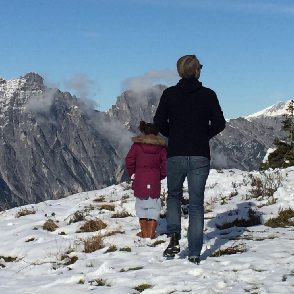 Auf dem Berg im Schnee