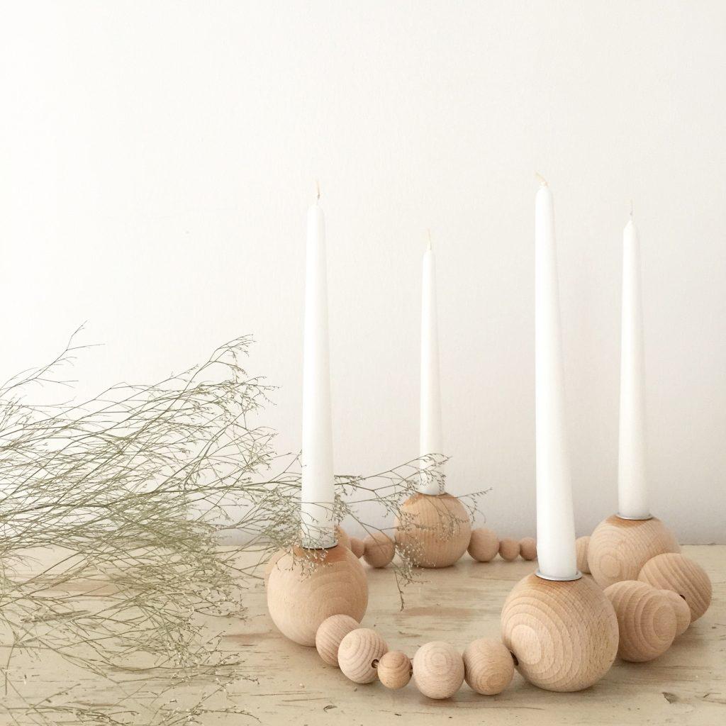 Adventskranz aus Holzkugeln selbermachen !Adventskranz Ferm Living selbermachen