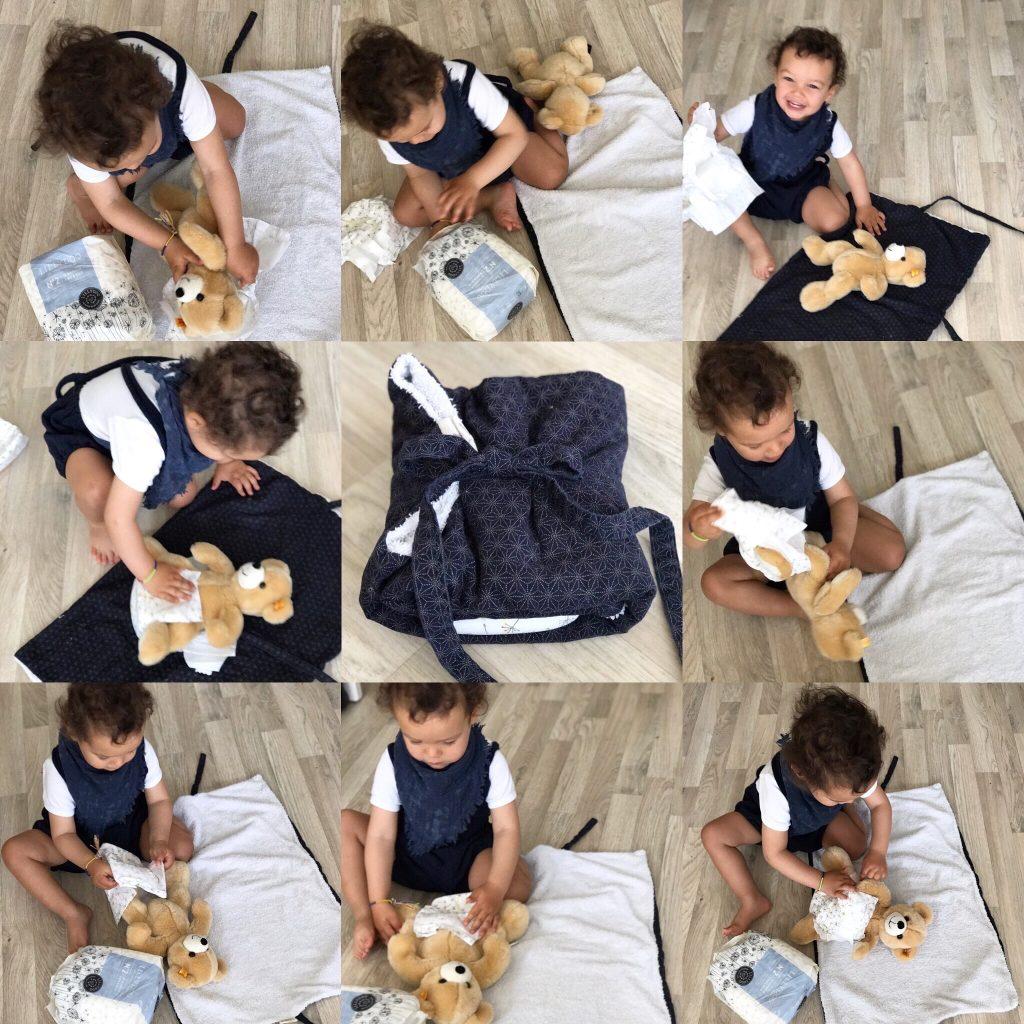 Eine schöne Wickelunterlage selber nähen ist ganz einfach die Anleitung findet ihr auf www.elfenkindberlin.de