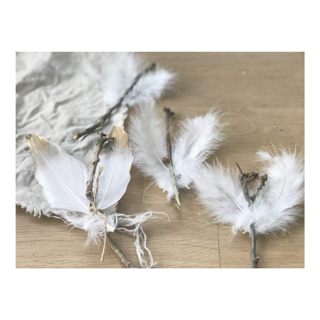Engel aus Naturmaterialien basteln