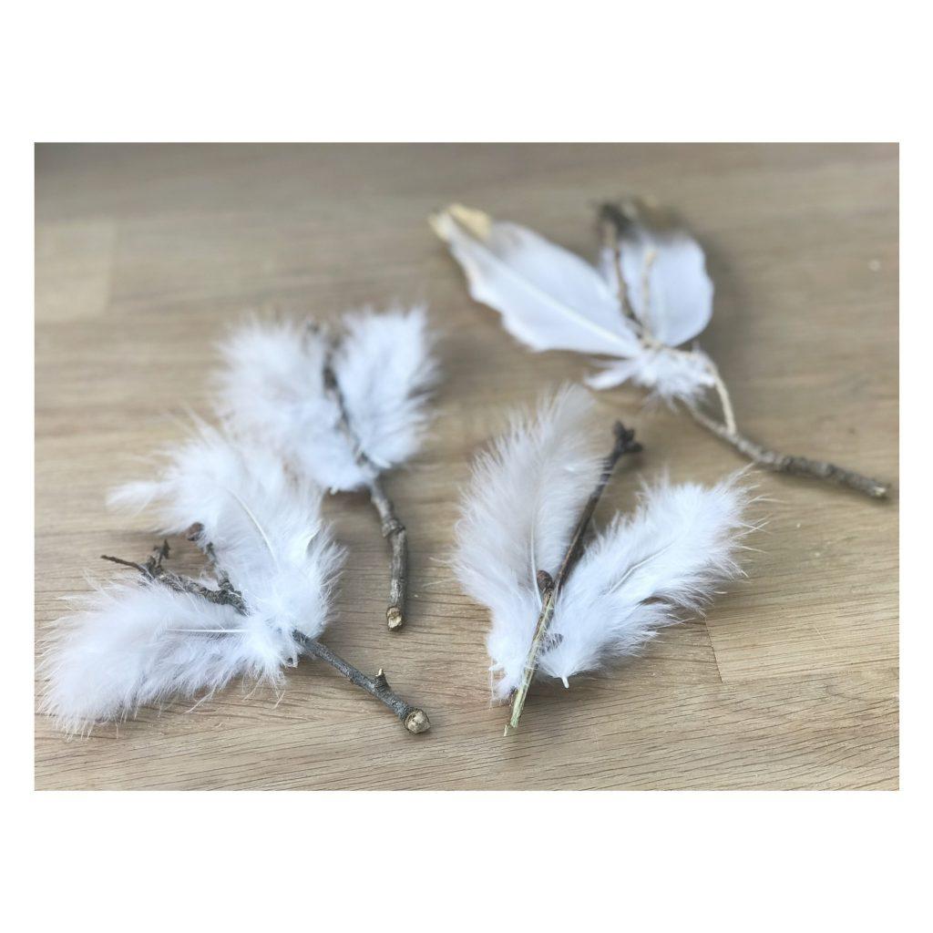 Engel basteln aus Naturmaterialien