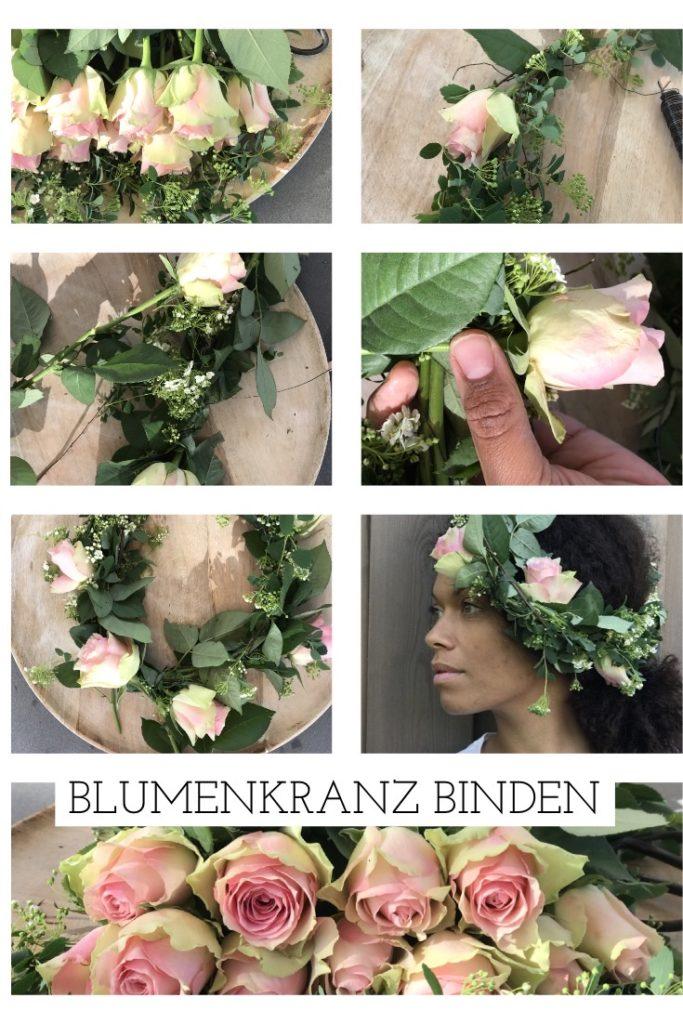 Blumenkränze selber machen mit den Fairtrade Rosen in Kombination mit Gartenschönheiten. ein DIY für Hochzeiten, Taufe, Muttertag, für unsere Kinder oder einfach nur so!
