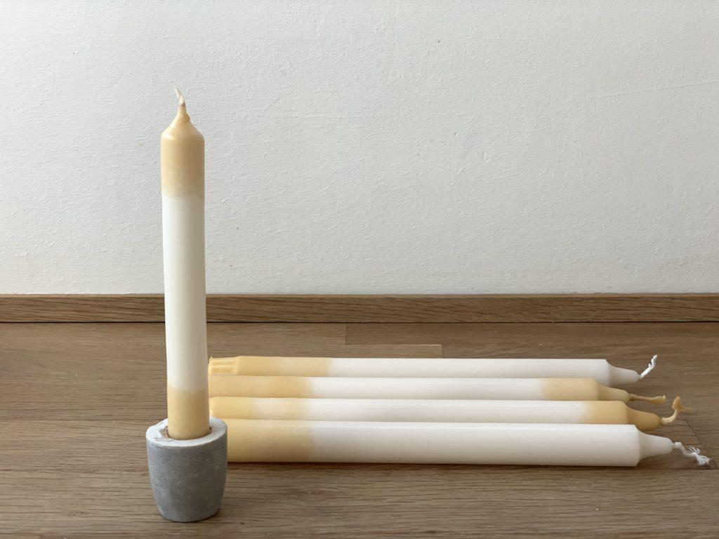 Anleitung für Dip Dye Kerzen im Farbverlauf färben, schönster Lichterglanz für euer zu Hause ! Viele Tipps und eine step by step Anleitung per Video.