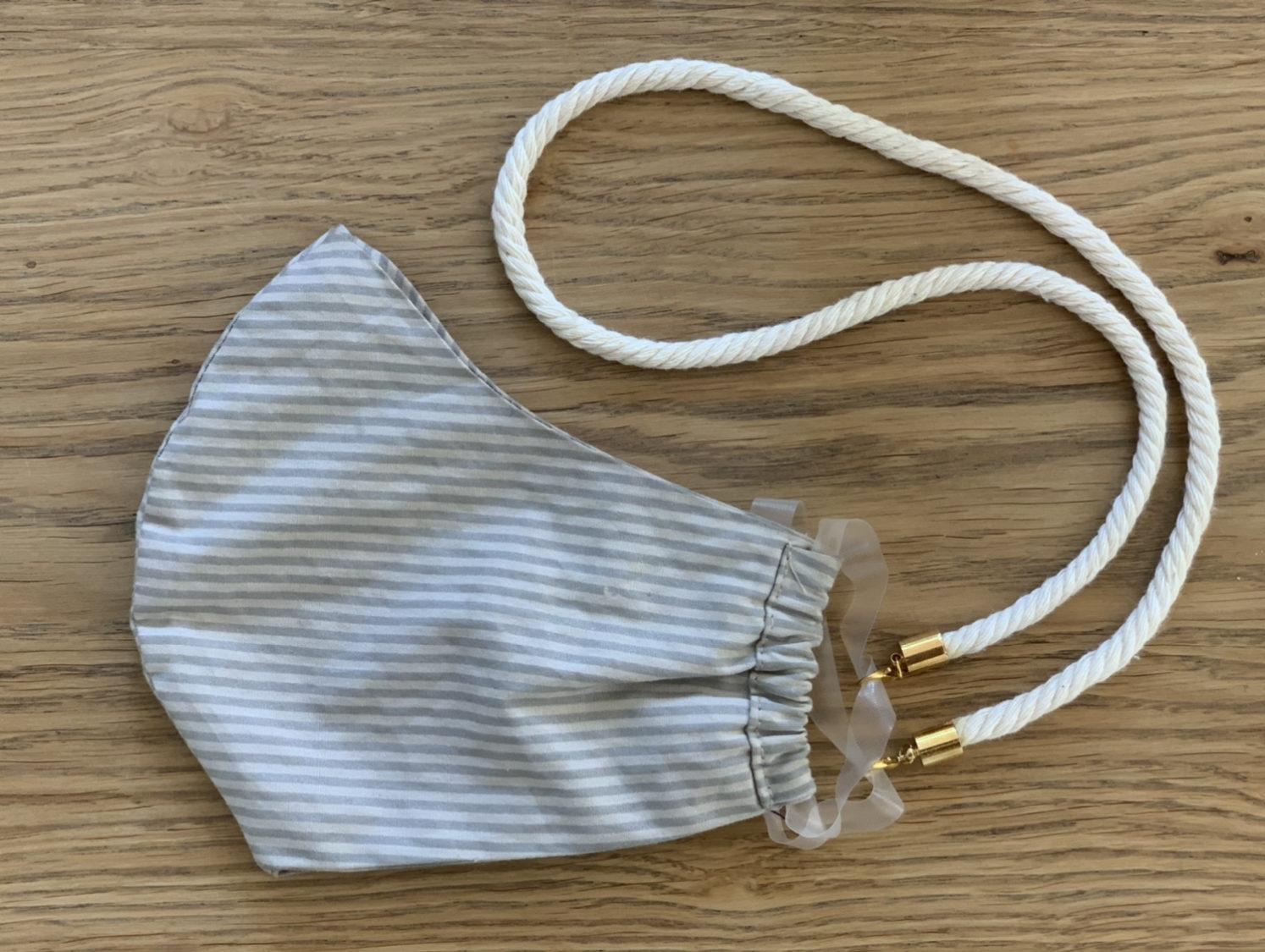 Trageband für Behelfsmaske zum selber nähen, ein super einfaches DIY das schnell umzusetzen ist und das Leben einfach erleichtert