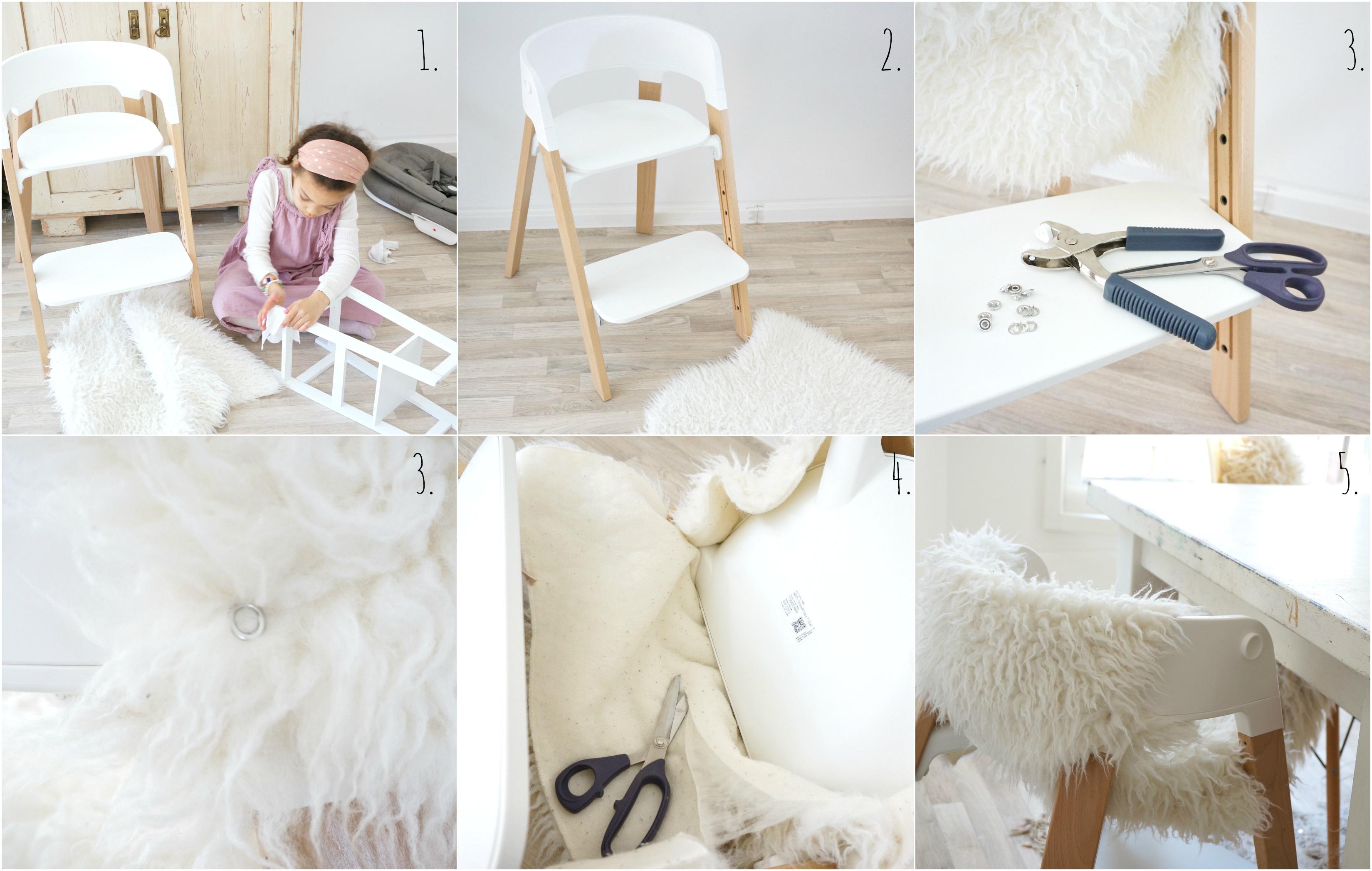 Stokke Fell Bezug DIY Collage